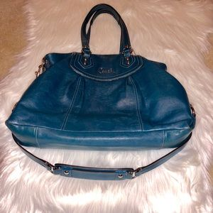 Teal Authentic Coach Large Ashley Carryall